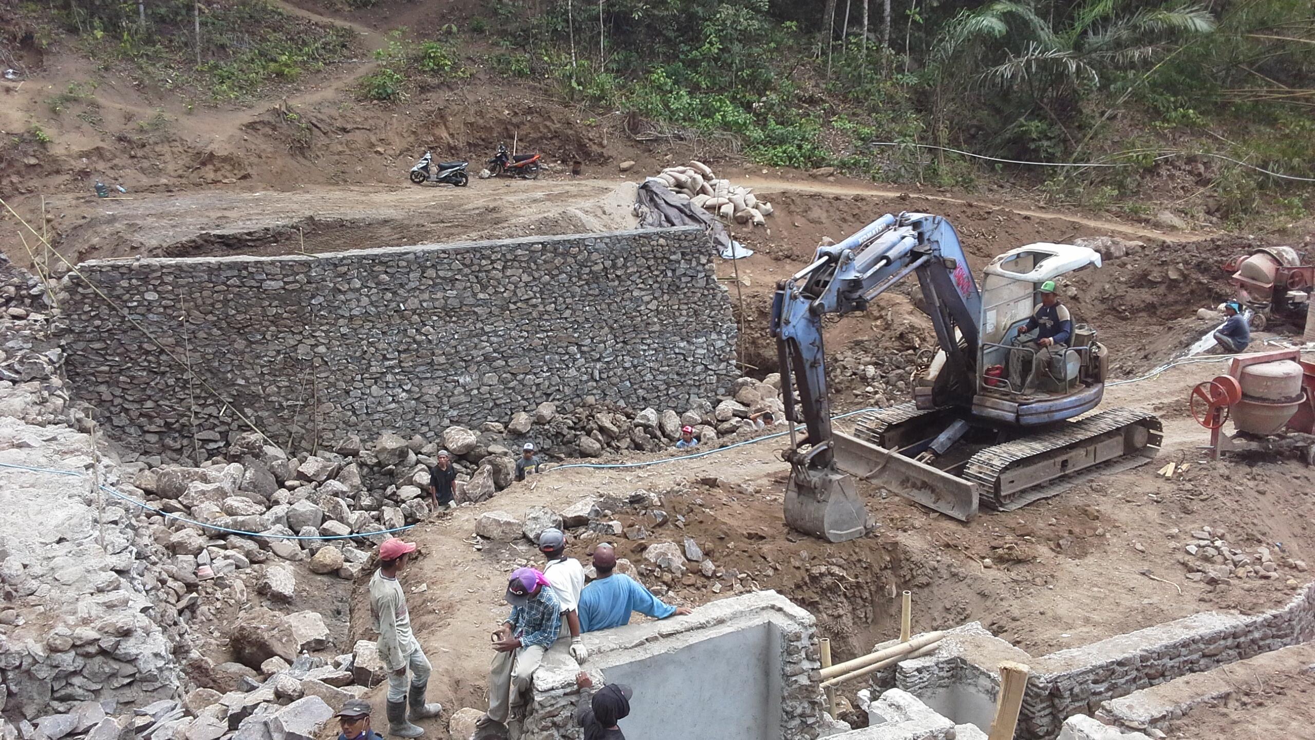start bouw dam Orong