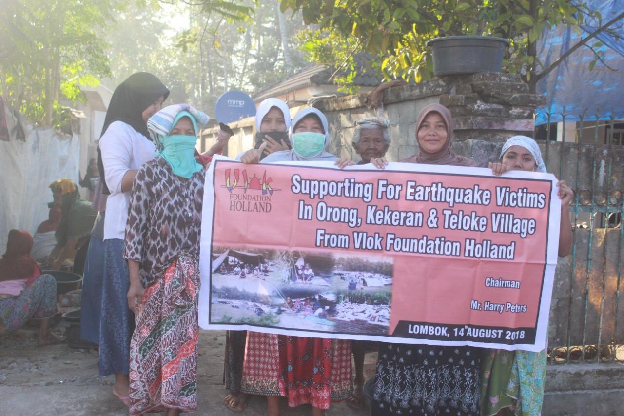 Voortgang ramp op Lombok