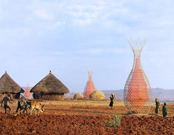 Warka torens in Ethiopië